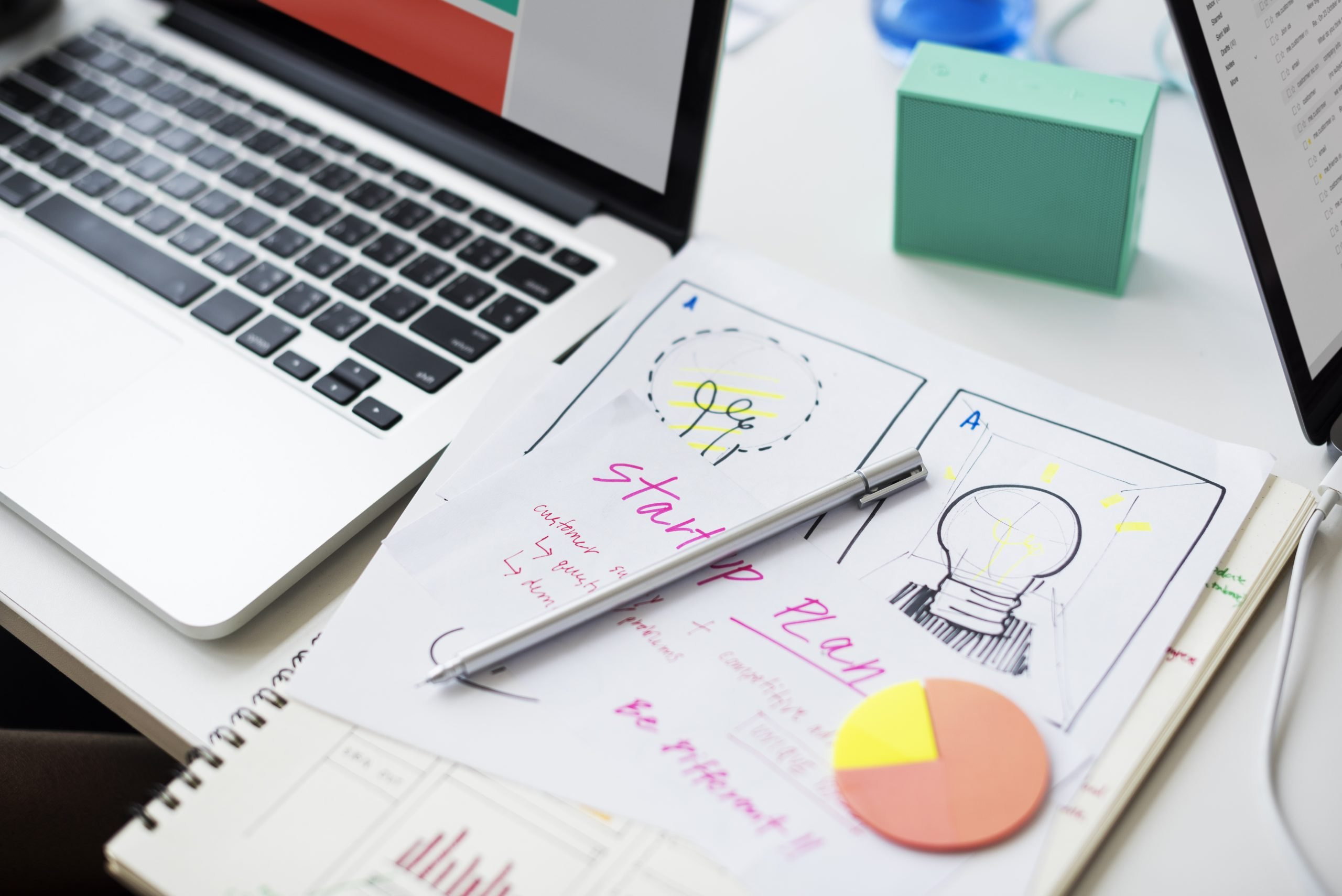 planning desk marketing a small business
